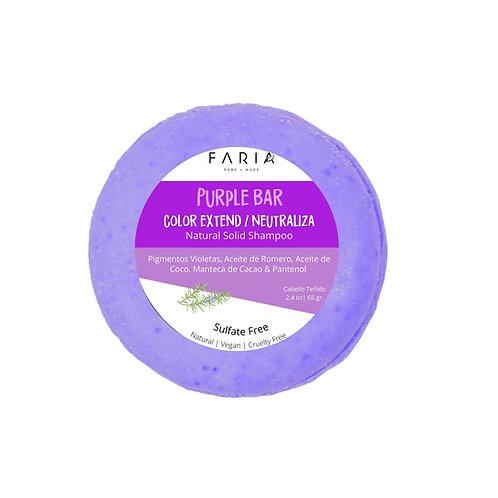 """""""Purple Bar - Color Extend"""" Sulfate  Free Shampoo Sólido para cabello teñido"""
