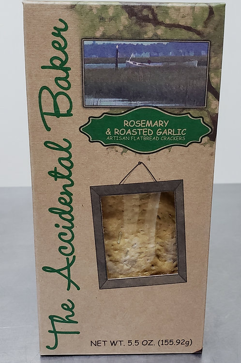 4 - Pack Rosemary with Roasted Garlic Flatbread Crackers