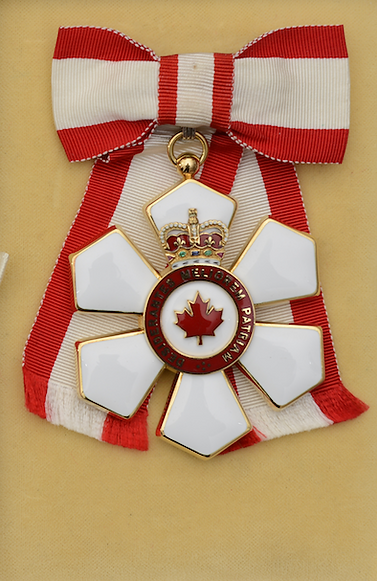 Compaion of the Order of Canada; Order of Canada; canada honours; garrard jewellers