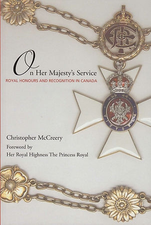 Canadian honours; Canada honors; Christopher McCreery; Royal Victorian Order; Royal Honours; Governor General; Queen of Canada; Royal Victorian Chain