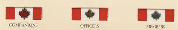 Order of Canada; Order of Canada ribbons; ORder of Canada undress ribbons; maple leaf flag; canada honors; canada honours