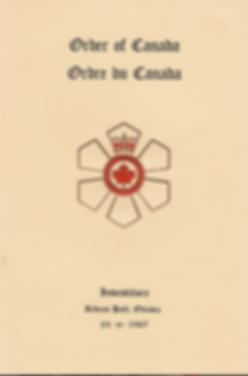 Order of Canada 1967; Order of Canada; Order of Canada Investiture