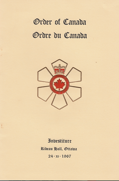 Order of Canada; investiture; Canada centennial