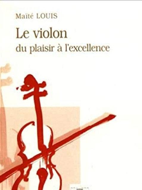 """Livre """"Le violon, du plaisir à l'excellence"""""""