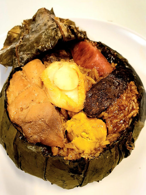 Lotus Leaf Rice with 10 Head Abalone