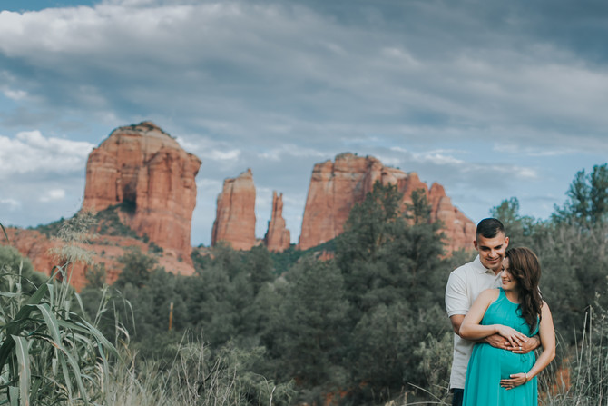 Rocio and Adrian's Maternity | Cathedral Rock, Sedona AZ