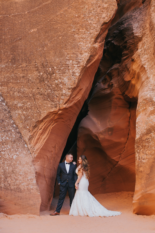 Antelope canyon Wedding portraits