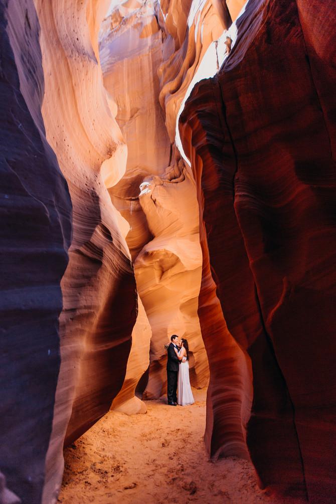 Amber + Gary's Elopement // Antelope Canyon and Horseshoe Bend // Page, AZ