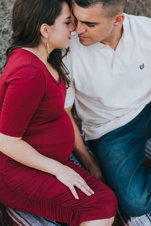 Sunset Maternity snuggle Sedona, AZ