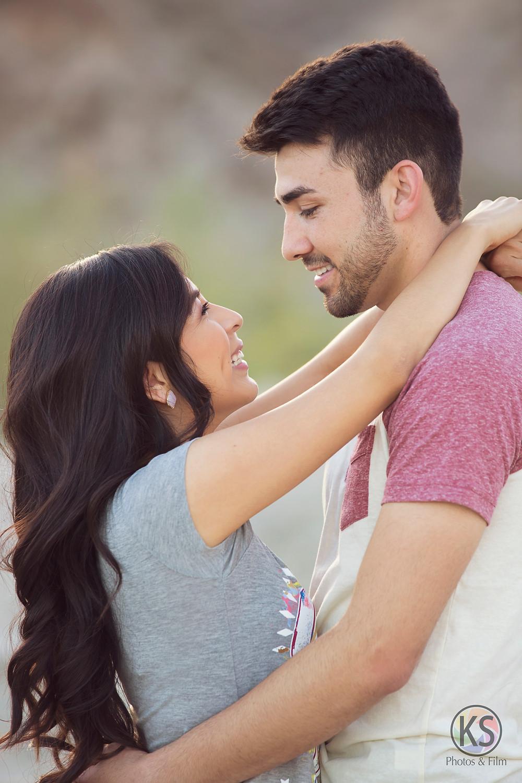 Engagement Portraits at Lake Cahuilla