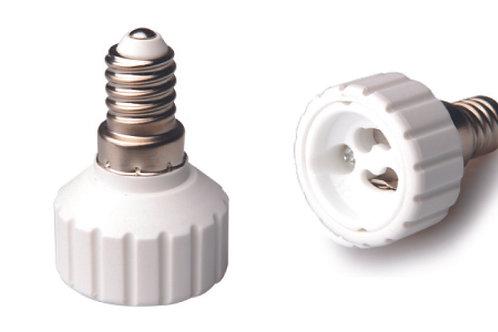 ADATTATORE PER LAMPADE E14/ GU 10
