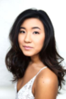 Suji Kim, model headshot, Korean American