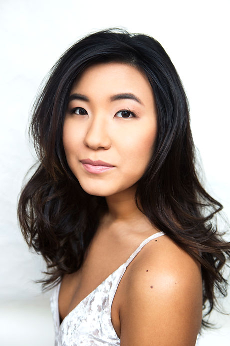 Suji Kim, model headshot, Korean American