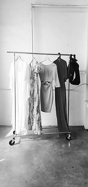 clothes, wardrobe rack, dresses