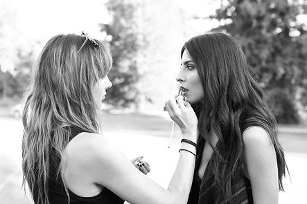 Kasey Vanwey, makeup artist, Maryam Zoghadr, model, Persian model, Persian American, makeup application on model, behind the scenes photoshoot