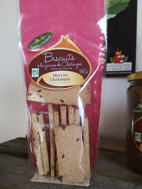 Biscuits chataignes / chocolat BIO 180gr