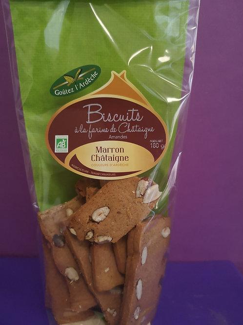 Biscuits châtaignes / amande BIO
