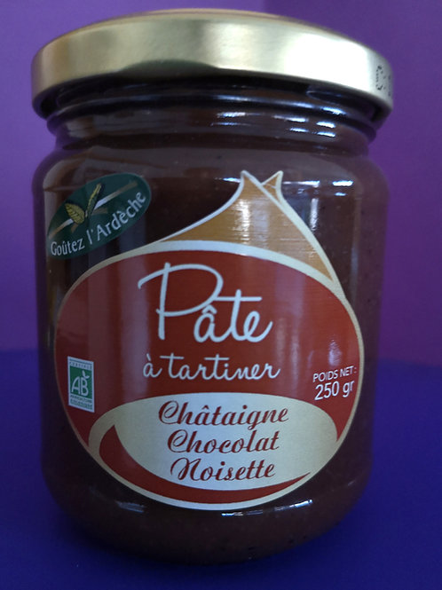 Pâte à Tartiner 250gr (châtaigne, chocolat, noisette)