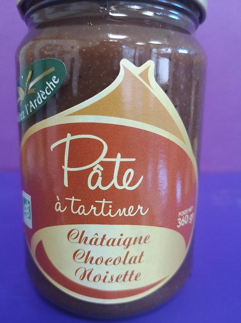 Pâte à Tartiner 360 gr (châtaigne, chocolat, noisette)