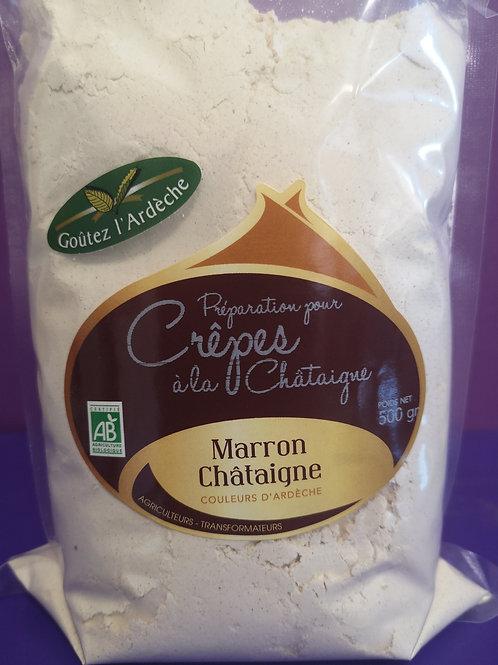Préparation pour crêpes à la farine de châtaigne 500gr