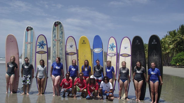 Group surf classes included!