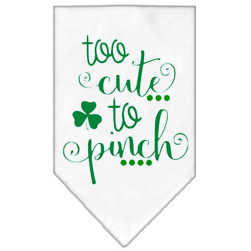 St. Patrick Day Bandana- Too Cute to Pinch