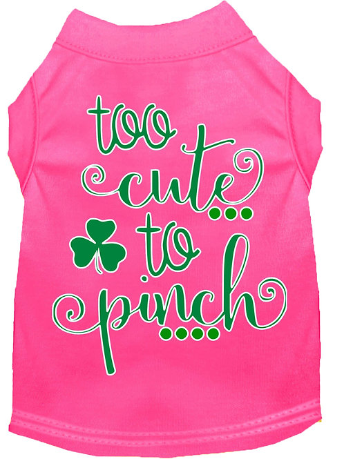 St. Patrick's Day T shirt- Too Cute to Pinch