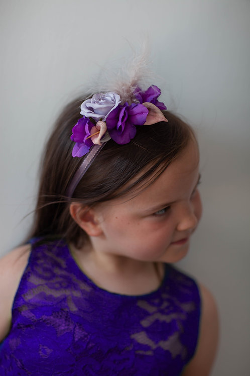 Flower Crown - Purple & Lilac Rose - One Size