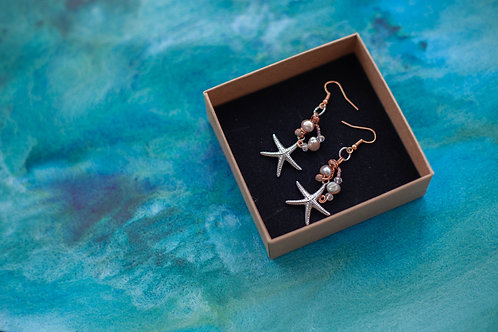 Rose Gold Plated Earrings -Starfish