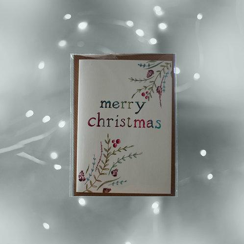 Art Greeting Card  - Christmas - Merry Christmas