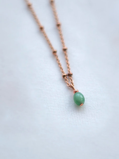 Rose Gold Plated Necklace - Jade