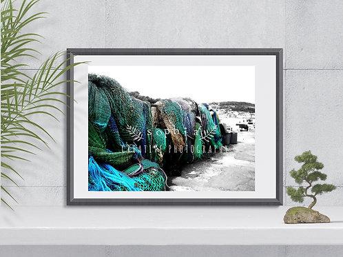 Photography Print - Bere Regis - Fishing Nets