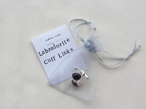 Cufflinks - Silver - Labradorite