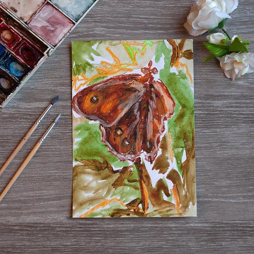 Original Art - Oil Pastel & Watercolour - Butterfly