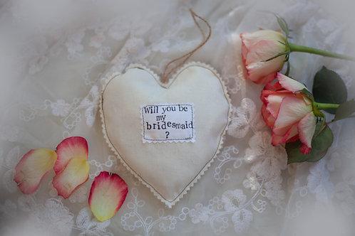 Hanging Heart - Wedding  - Bridesmaid Gift