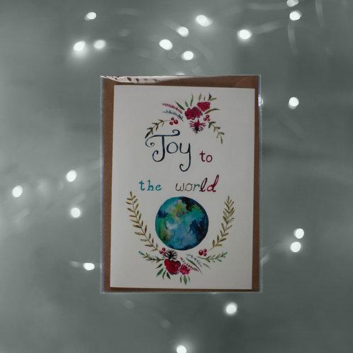Art Greeting Card  - Christmas - Joy to the World