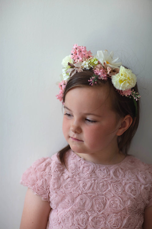 Flower Crown - Pink & Ivory Carnation - One Size
