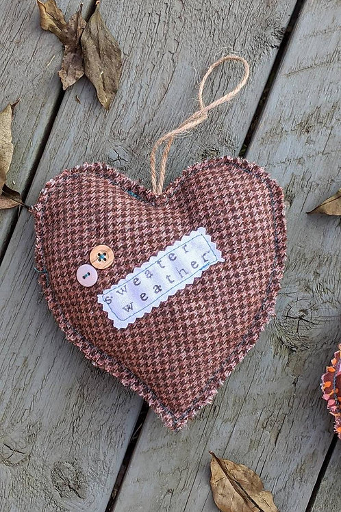 Hanging Heart - Autumn - Sweater Weather