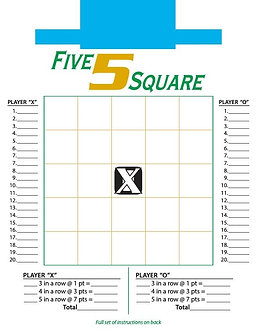 5 Square Game (Ages 5+)
