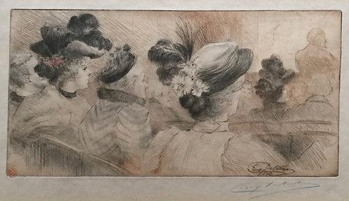 Eugène DELÂTRE (1854-1938).  Personnages assis au