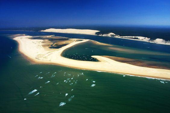 les bancs de sable du bassin