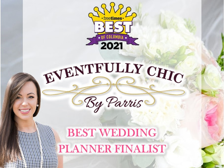 """Eventfully Chic by Parris named a finalist in the Post & Courier Columbia """"Best Of"""" Campaign"""