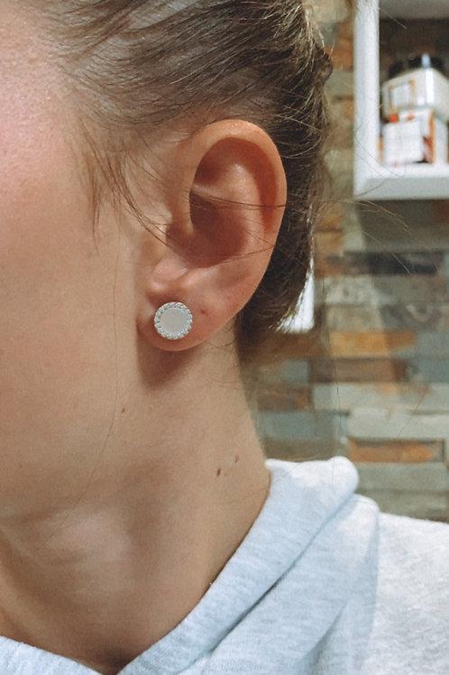 Boucle d'oreille nacre