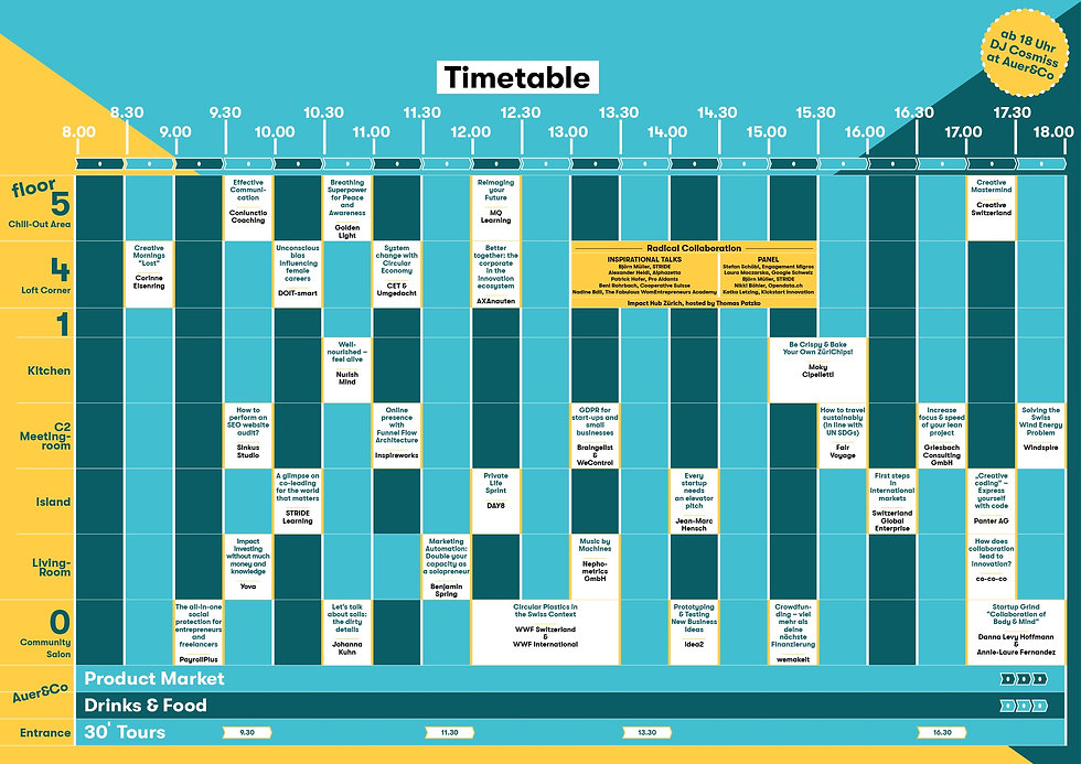 timtable Open Hub Day