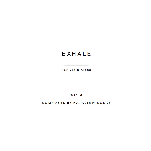 'Exhale' for Viola Alone- Natalie Nicolas
