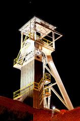 Salt Mine Head at Night