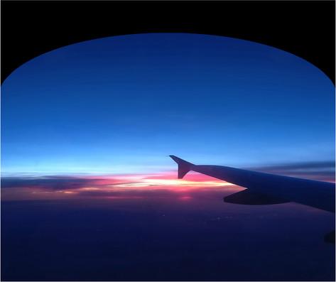 Sunset Geneva to Birminham
