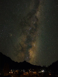 Milky Way above Queenstown