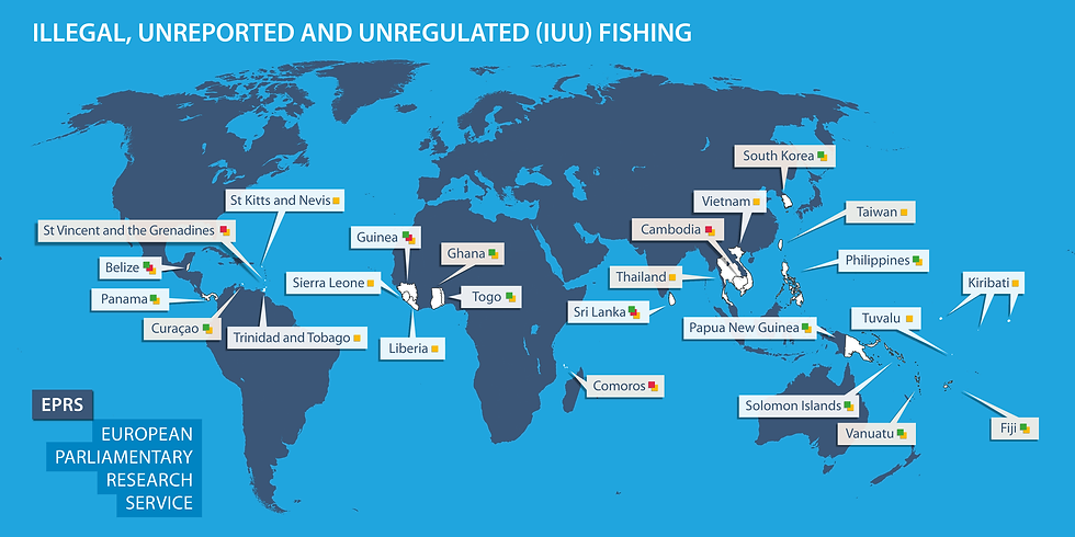 IUU world map