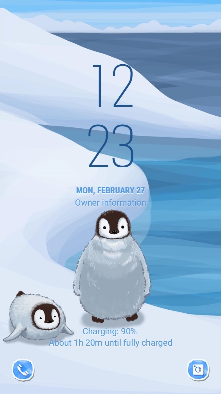 Little penguin (ANI)_lockscreen